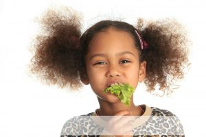 child pigtails lettuce overlay